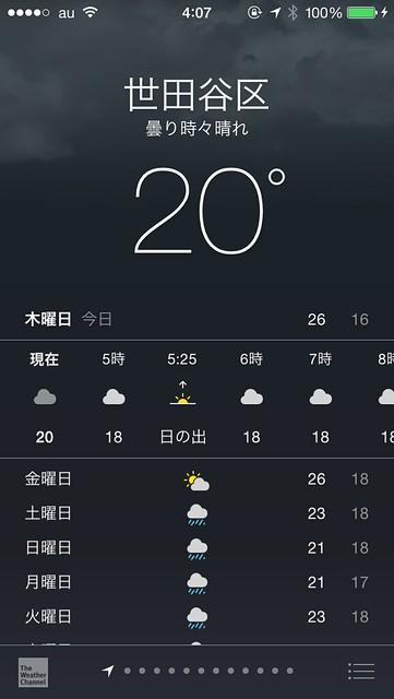 iOS8天気