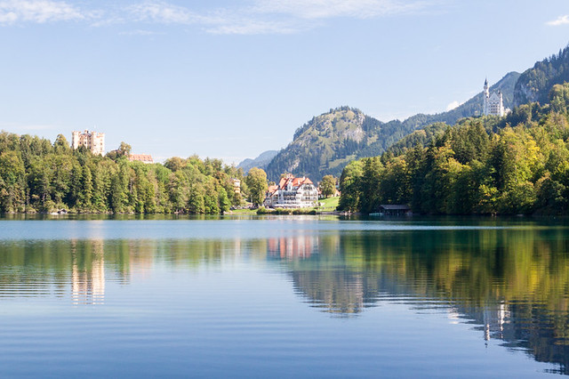 View from across Alpsee
