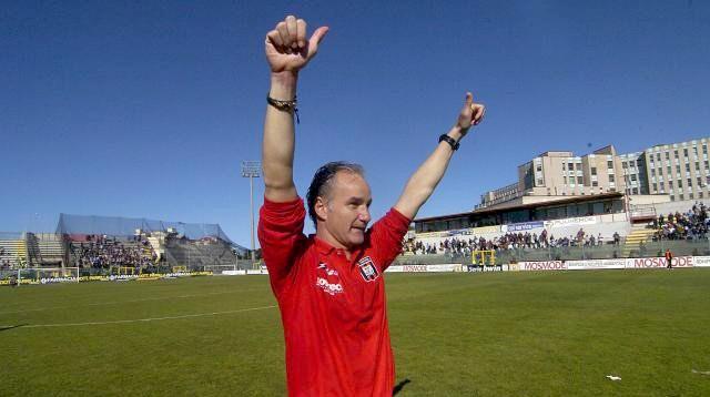 Massimo Drago, attuale tecnico del Crotone, suo il primo gol a Gangi