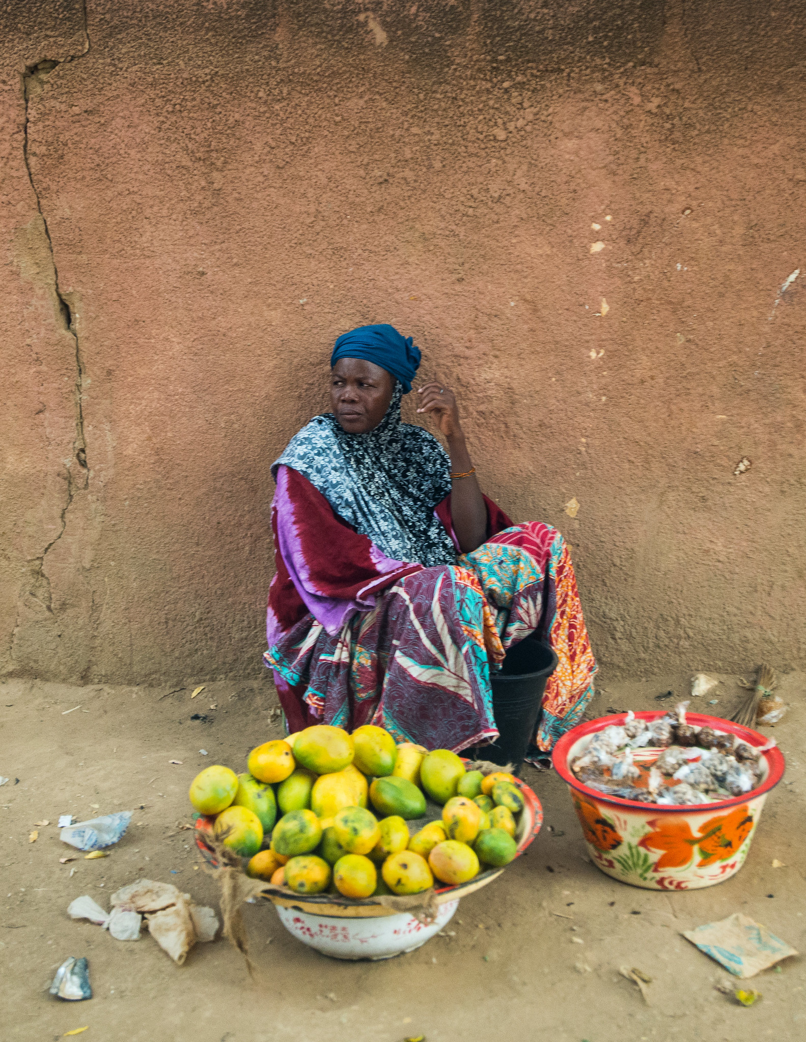 Woman Selling Mangoes