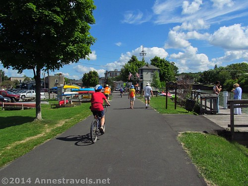 Entering Fairport, New York on the Erie Canal Path