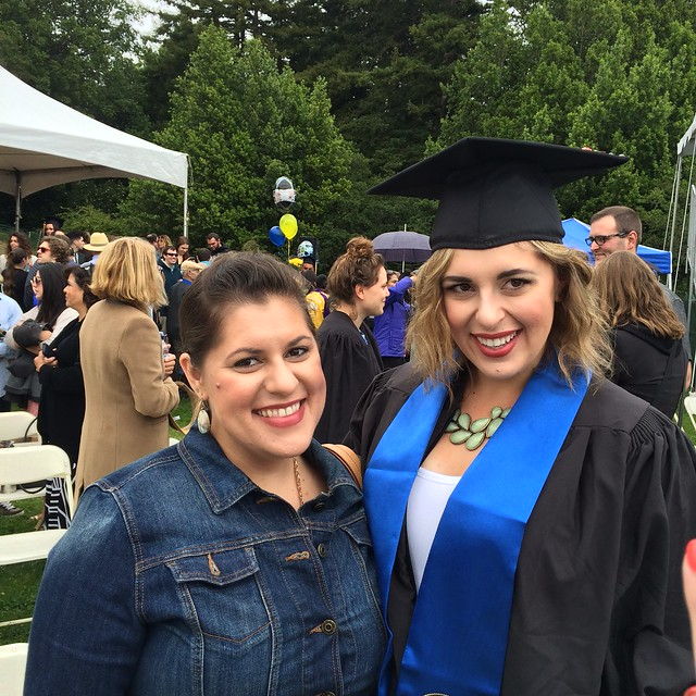 Me with Dani at her graduation from UCSC