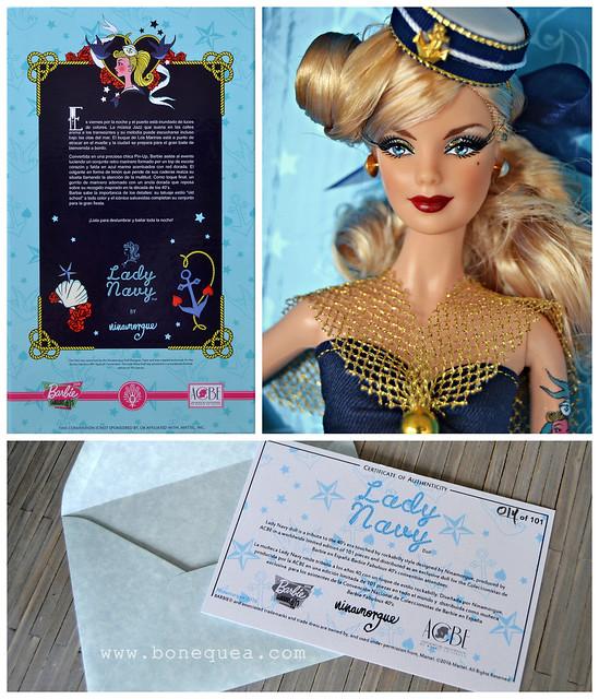 Lady Navy: muñeca exclusiva Convención de Baribe 2016, por Ninamorgue
