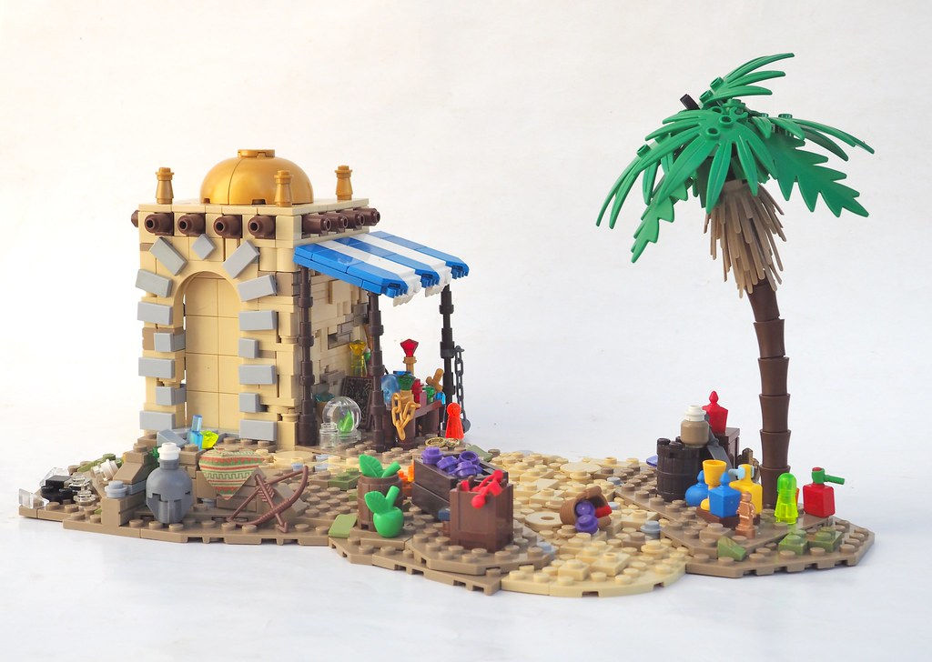 Battle in the Streets of Hudastana (custom built Lego model)