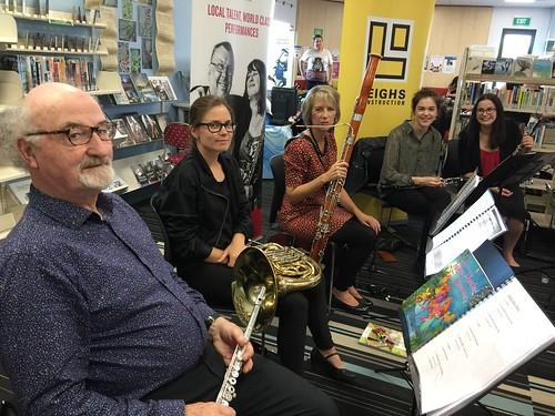 Woodwind ensemble, Papanui Library