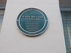Photo of John William Polidori green plaque