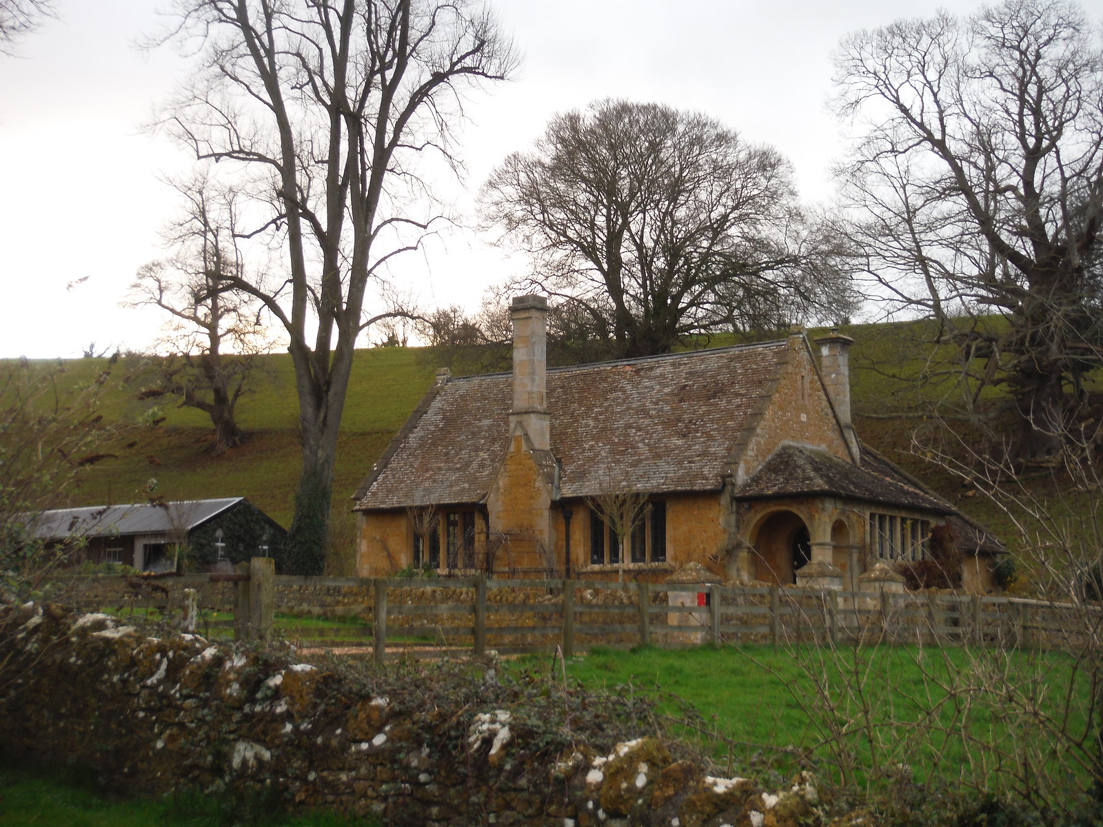 House next to St. Leonhard's, Pitcombe SWC Walk 284 Bruton Circular (via Hauser & Wirth Somerset) or from Castle Cary