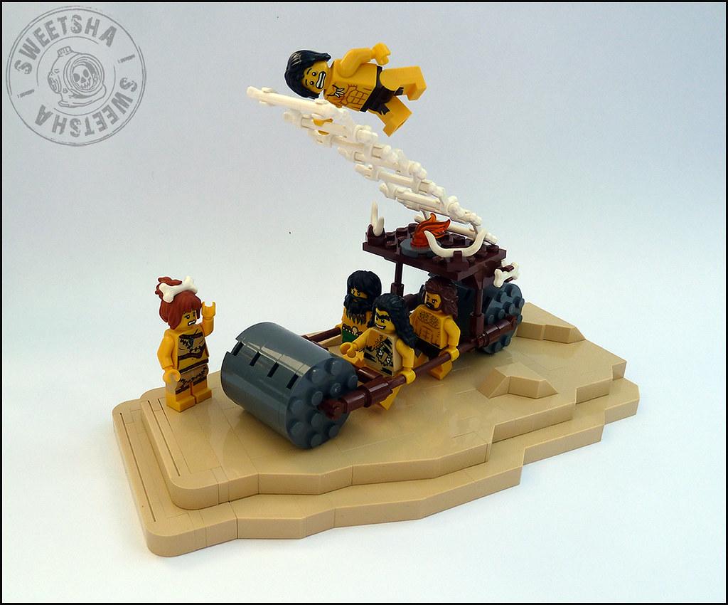 Stone age firemen (custom built Lego model)
