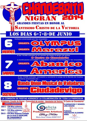 Nigrán 2014 - Cristo da Vitoria en Chandebrito - cartel