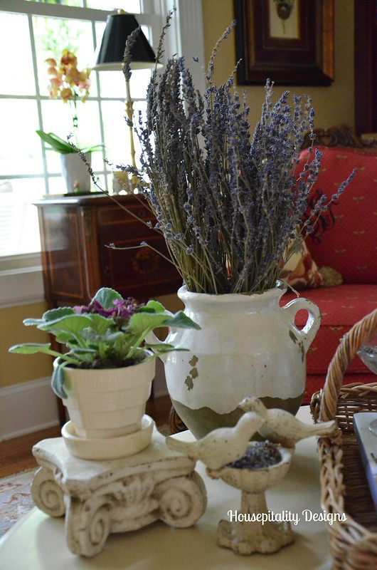 French Country Coffee Table Vignette