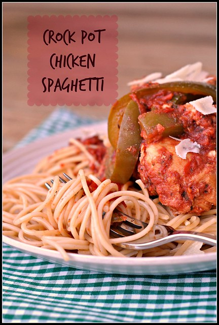 Crock Pot Chicken Spaghetti 1