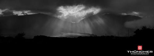 leica sky bw nature monochrome rain clouds landscape outdoors island hawaii blackwhite scenic rangefinder maui tropical fullframe fx sunrays m9 wailuku westmauimountains waikapu summicron35mmf2asph leicam9 agm9