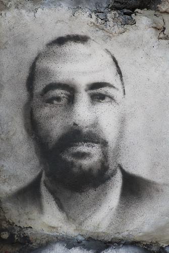Abu Bakr al-Baghdadi, painted portrait DDC_0590