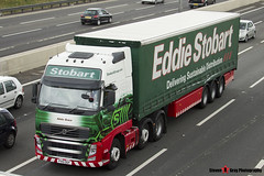 Volvo FH 6x2 Tractor with 3 Axle Curtainside Trailer - PX10 DGF - H4470 - Adele Grace - Eddie Stobart - M1 J10 Luton - Steven Gray - IMG_6890