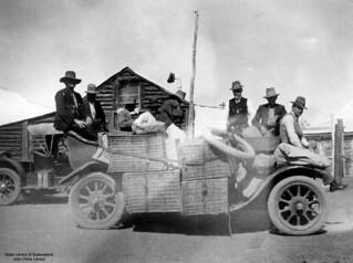 Overloaded Studebaker car at Bulgroo