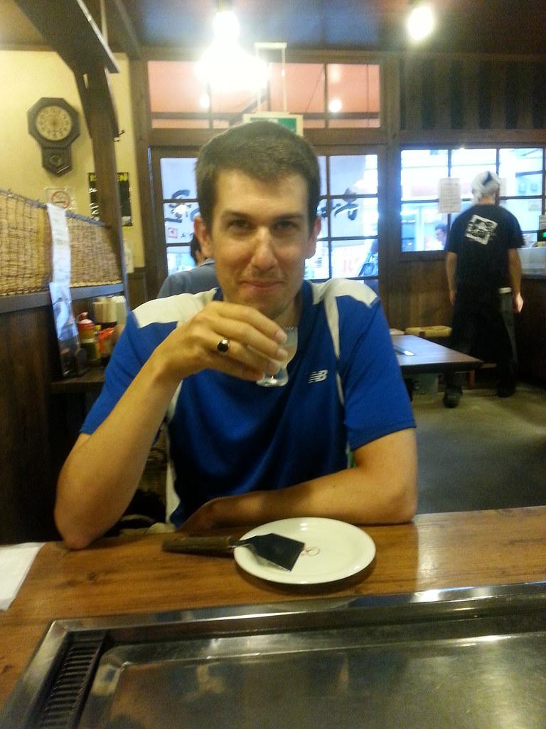 Andrew Drinking Sake