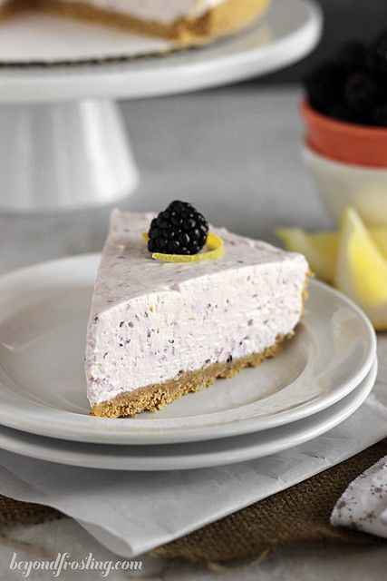 Triple Berry No-bake Cheesecake | beyondfrosting.com | #cheesecake