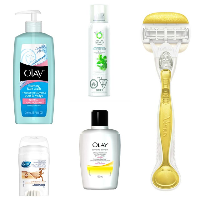summer beauty giveaway, olay, venus, secret, herbal essences, cottage beauty, dry shampoo, deodorant, razer, face cream, face wash