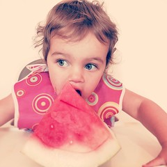 Yesterday might be the first day of summer but it's officially here now. #babytackleswatermelon #summer #extremebabyledweaning