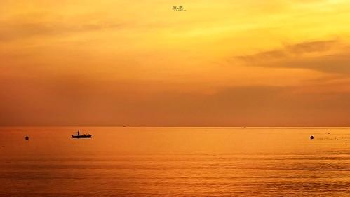 travel sunset seascape beach beautiful sunrise indonesia island peaceful bintan riau