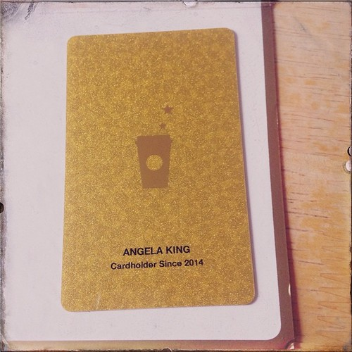 My @Starbucks gold card came today!   Happy dance!