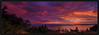 Sunset Panorama - Edmonds, WA. by jordynmurdock