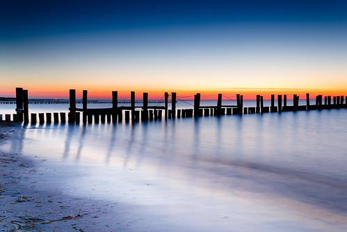 longexposure blue sea sky beach water night relax mood balticsea le ostsee chill zingst