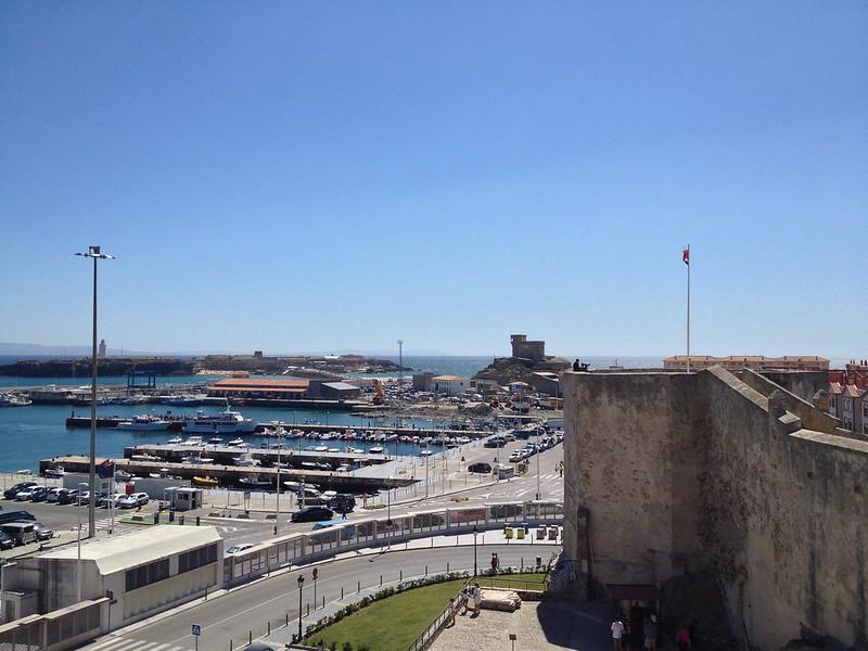 Port of Tarifa with Isla De Las Palomas in the background