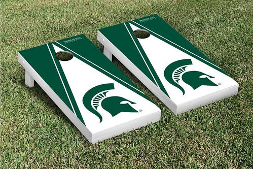 Michigan State Spartans Cornhole Game Set Triangle