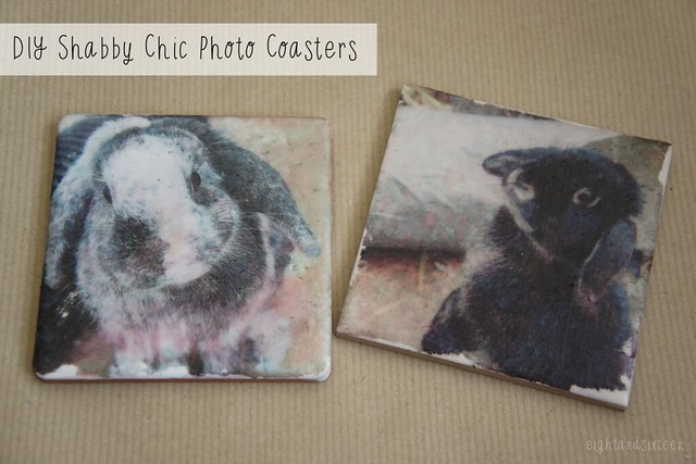 coaster shabby chic photo diy
