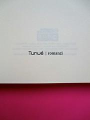 Romanzi, collana di Tunué edizioni. Progetto grafico di Tomomot; impaginazione di TunuéLab. Frontespizio [Barison] (part.), 1
