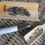 © long pepper vanilla pod cardamom - Langpfeffer Vanille Kardamom