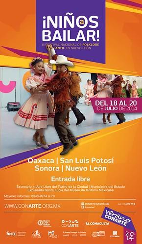 ¡Niños a bailar! III Festival Nacional de Folklore Infantil en Nuevo León