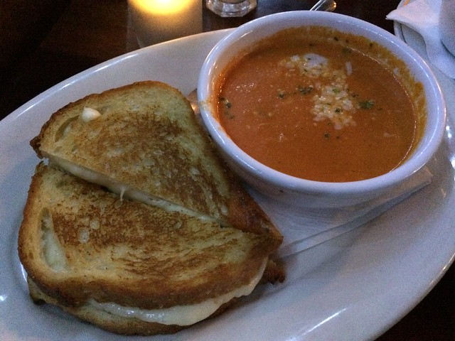 Grilled cheese with tomato soup - The People's Pub