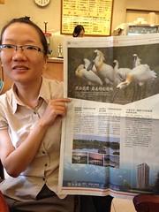 黑面琵鷺帶來的優勢,建商最清楚!SAVE成員郭柏秀說,至少兩次看見建商以黑面琵鷺為廣告,為住宅加值。