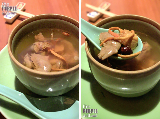 Double-Boiled Pigeon Soup with Cordyceps Flower and Chinese Dates