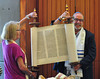 David and Joanne lift the Torah