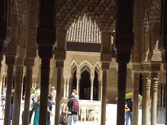 Nasrid Palaces - The Alhambra - Granada - The Palace of the Lions - the pavilion in front of the Mocarabes Hall