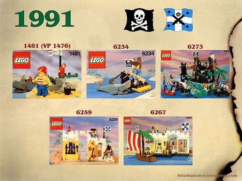 LEGO Pirates Timeline 1991