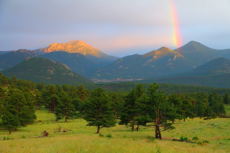 IMG_4054 Rainbow over Moraine Park, Rocky Mountain National Park