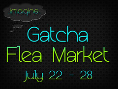 Gatcha Flea Market Sign