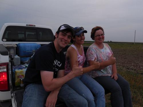 Kurt, Ashley, and Mom thumbs up
