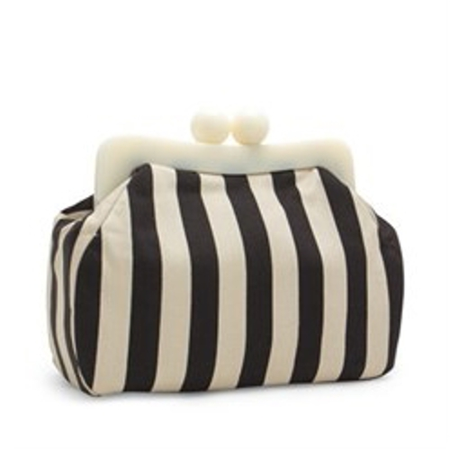 gojane striped ball clutch