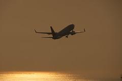 SKYMARK AIRLINES Boeing 737-800 JA73NP taking off Kobe Airport(UKB)
