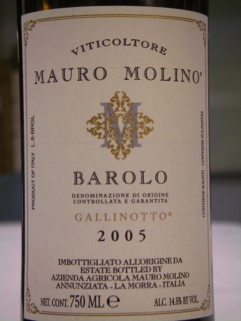 Mauro Molino 2005 Barolo Vigna Gallinoto