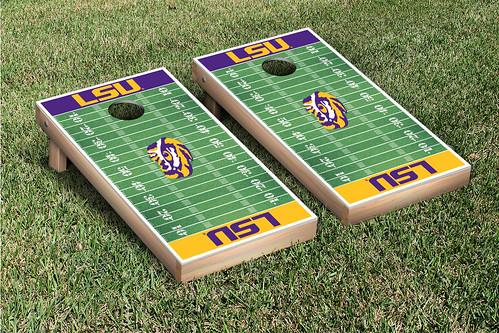LSU Tigers Cornhole Game Set Football Field