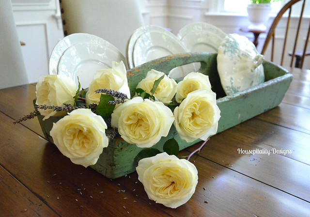 Antique Tool Caddy Centerpiece