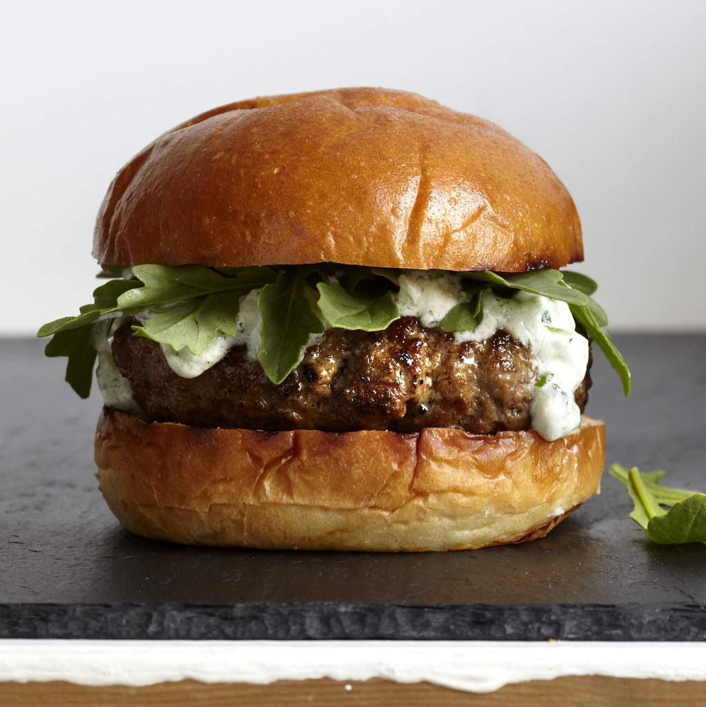 Today: A Greek-style lamb burger that's beefier than, well, beef.