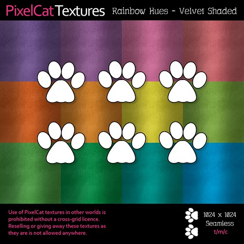 PixelCat Textures - Velvet Rainbow Hues Shaded