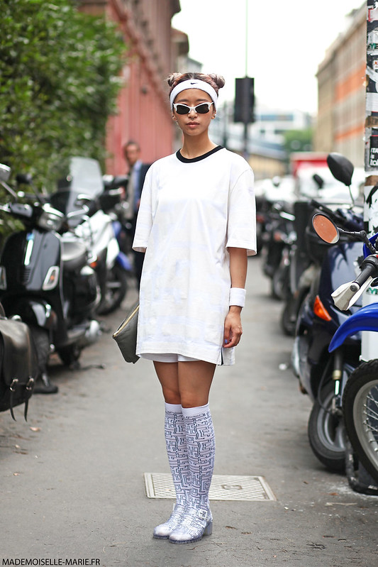 Hym Leigh Street style at Milan Fashion week Menswear day 3